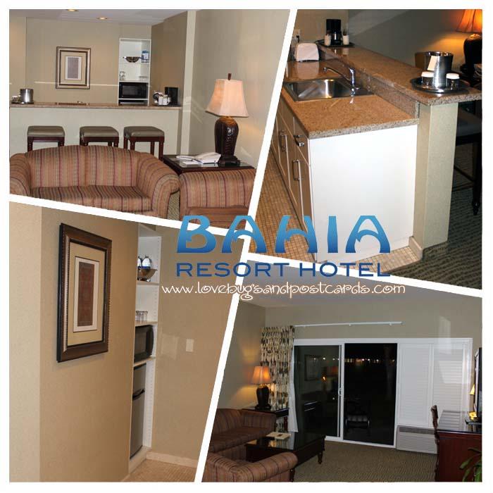 Bahia Resort Hotel - Kitchen/Living Room in Bayside Suite