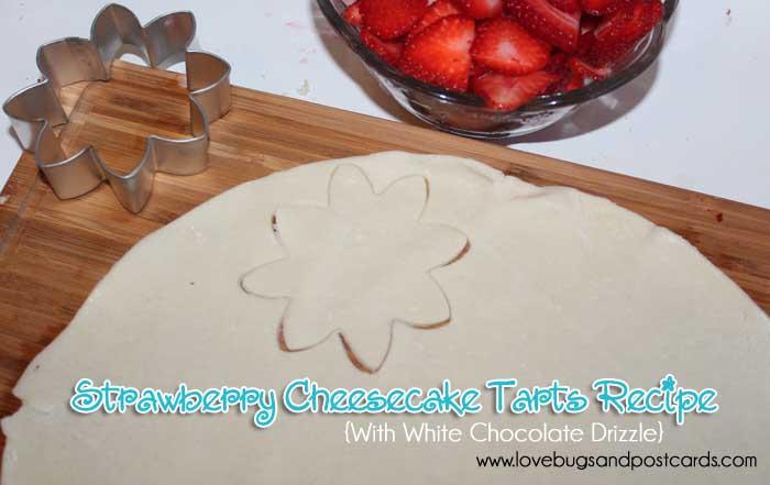Strawberry Cheesecake Tarts Recipe with White Chocolate Drizzle