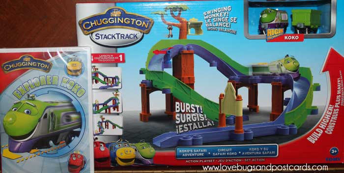 "Chuggington""Explorer Koko"" DVD and StackTrack Koko's Safari Adventure Play Set Review"