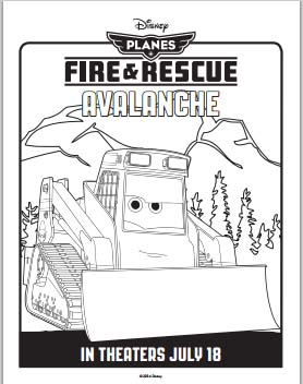 Planes: Fire and Rescue Coloring Pages - Avalanche