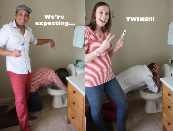 Creative Ways To Announce Pregnancy - Twins