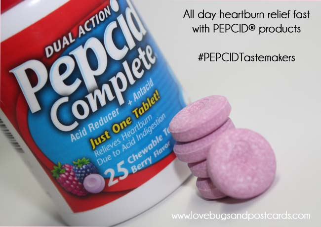 All day heartburn relief fast with PEPCID® products  #PEPCIDTastemakers