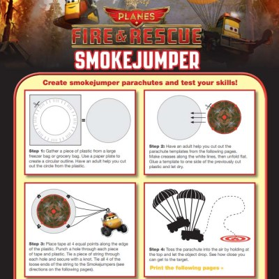 Planes Fire and Rescue Birthday Party SmokeJumper Game {Free Printable}
