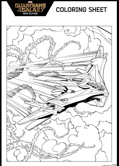 Guardians of the Galaxy Coloring Pages Space Ship