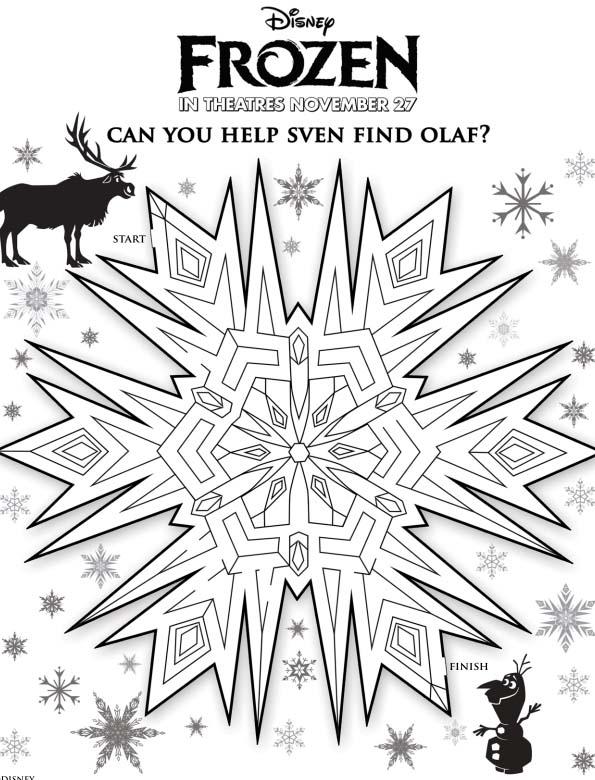 Snowflake Maze With Olaf