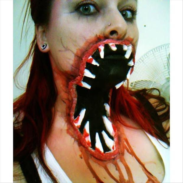 Zombie Mouth Face Painting