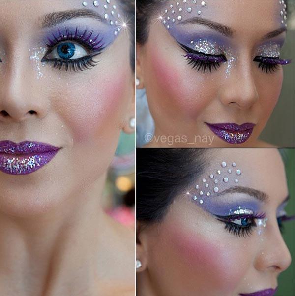 Purple Fairy Makeup