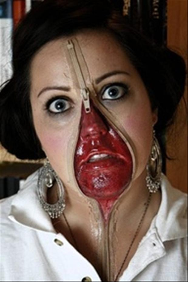 Zipper Face Painting