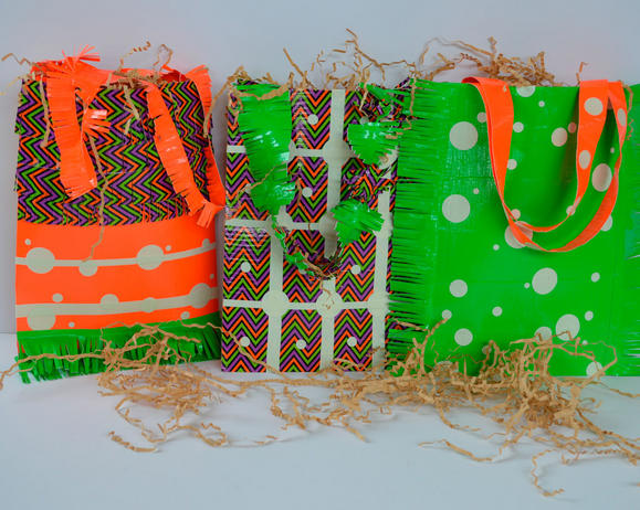Duck Tape Halloween Treat Bags