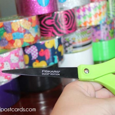 Fiskars Duck Edition Scissors + Duck Tape Crafts