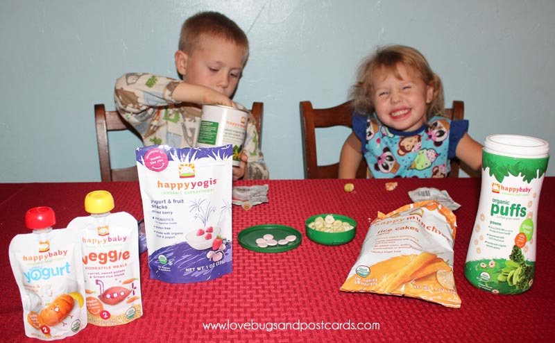 Healthy Organic Snacks for our toddler are great during the Holiday Season #TistheSqueezin