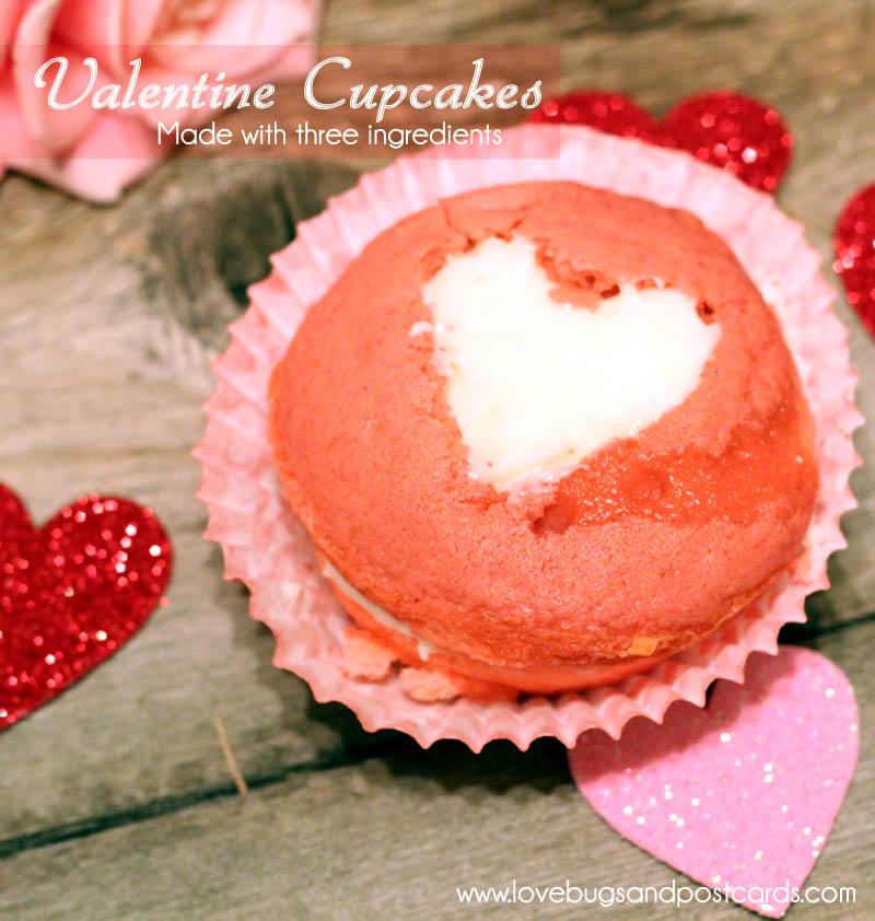 Valentine Cupcakes Recipe (3 ingredients)