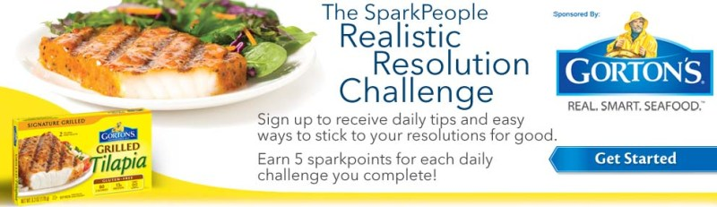 Gorton's & The SparkPeople 30-day Realistic Resolution Challenge (+Giveaway)