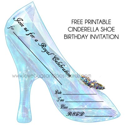 Cinderella Birthday Invitations {free printables} + Party Ideas #Cinderella