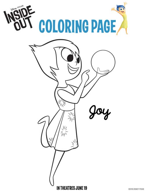 Joy Inside Out Coloring Pages