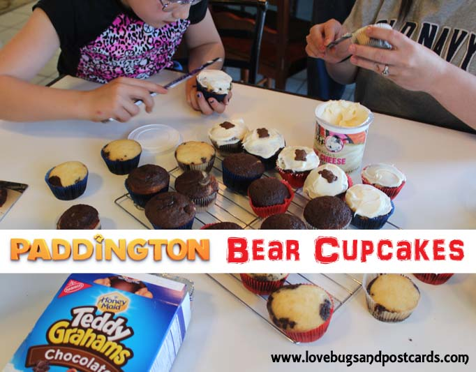 Paddington Bear Cupcakes  - Paddington the Bear Party #Paddington #MovieNight