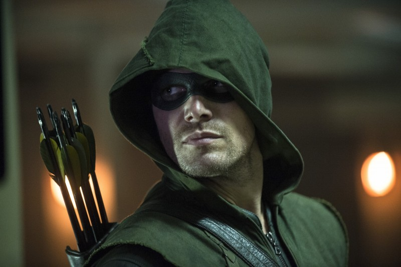 """Arrow -- """"The Calm"""" -- Image AR301a_0460b -- Pictured: Stephen Amell as The Arrow -- Photo: Cate Cameron/The CW -- © 2014 The CW Network, LLC. All Rights Reserved."""