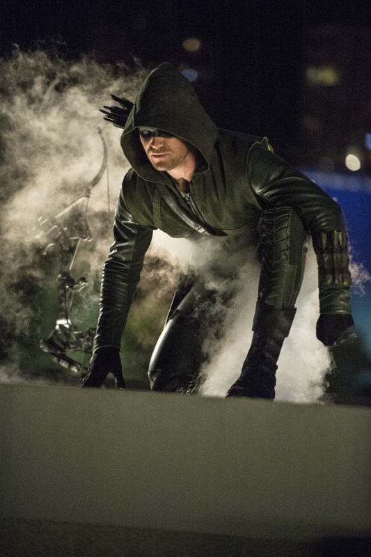 "Arrow -- ""The Calm"" -- Image AR301b_0322b -- Pictured: Stephen Amell as The Arrow -- Photo: Cate Cameron/The CW -- © 2014 The CW Network, LLC. All Rights Reserved."