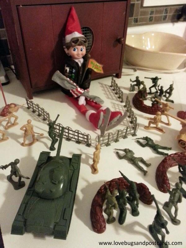 Elf on the Shelf Ideas - Army Hostage