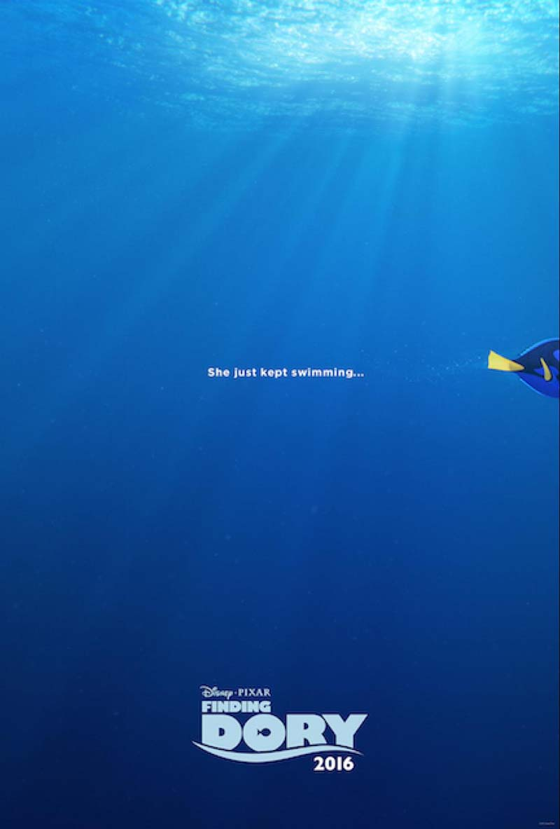 """Finding Dory"" swims into theaters June 17, 2016."