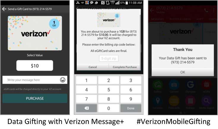 Data Gifting with Verizon Message+ #VerizonMobileGifting