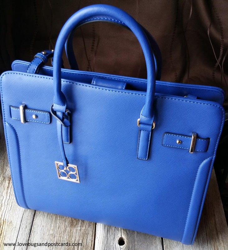 Iris Cobalt Key Item Saffiano Tote from 88.Eighty Eight