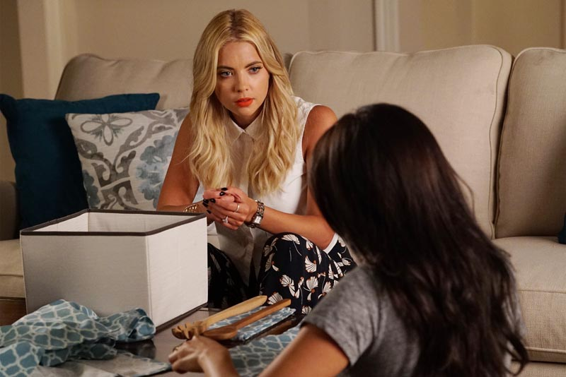 """PRETTY LITTLE LIARS - """"Charlotte's Web"""" - The Liars start to look at one of their own as questions arise regarding the new mystery in """"Charlotte's Web,"""" an all-new episode of ABC Family's hit original series """"Pretty Little Liars,"""" airing Tuesday, January 19th (8:00 – 9:00 PM ET/PT). ABC Family is becoming Freeform on January 12, 2016. (ABC Family/Eric McCandless) ASHLEY BENSON"""