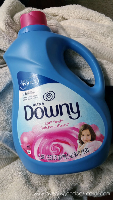 Downy Fabric Softener protects and refreshes