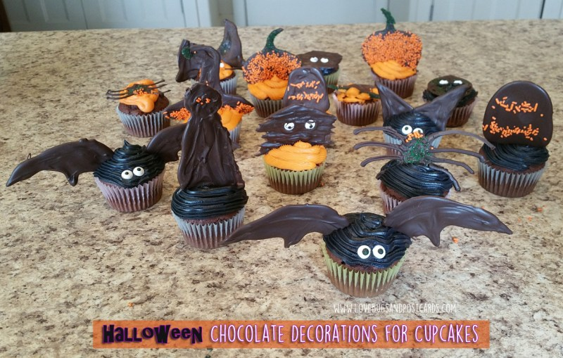 Halloween Chocolate Decorations for Cupcakes
