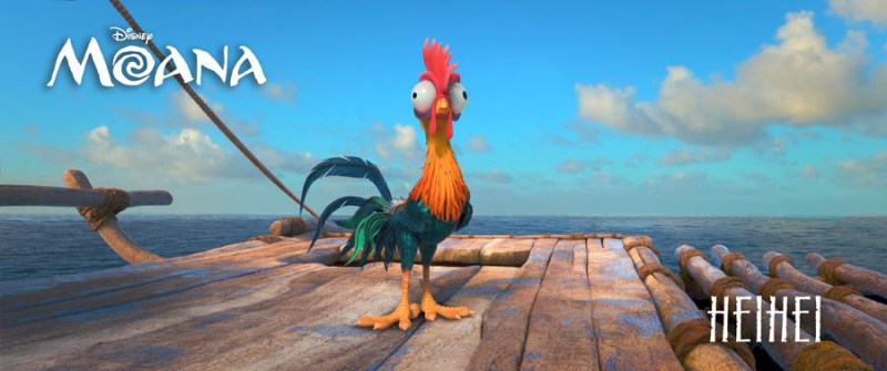 """ALAN TUDYK, Walt Disney Animation Studios' lucky charm (""""Zootopia,"""" """"Wreck-It Ralph,"""" """"Big Hero 6""""), is behind the voice of HEIHEI, a dumb rooster who accidently stows away on Moana's canoe. ©2016 Disney. All Rights Reserved."""