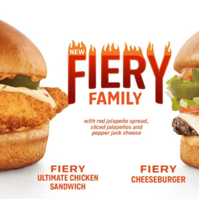 Giveaway for a $25 Sonic Drive-In Gift Card to try the new Fiery Sandwiches