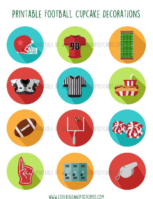 Football Cupcake Decorations
