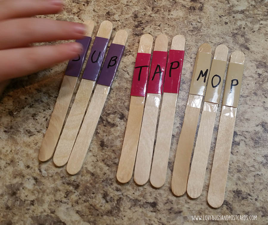 Sight Word Letter Sticks DIY