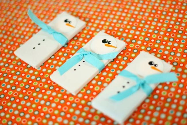 Snowman Candy bar Covers