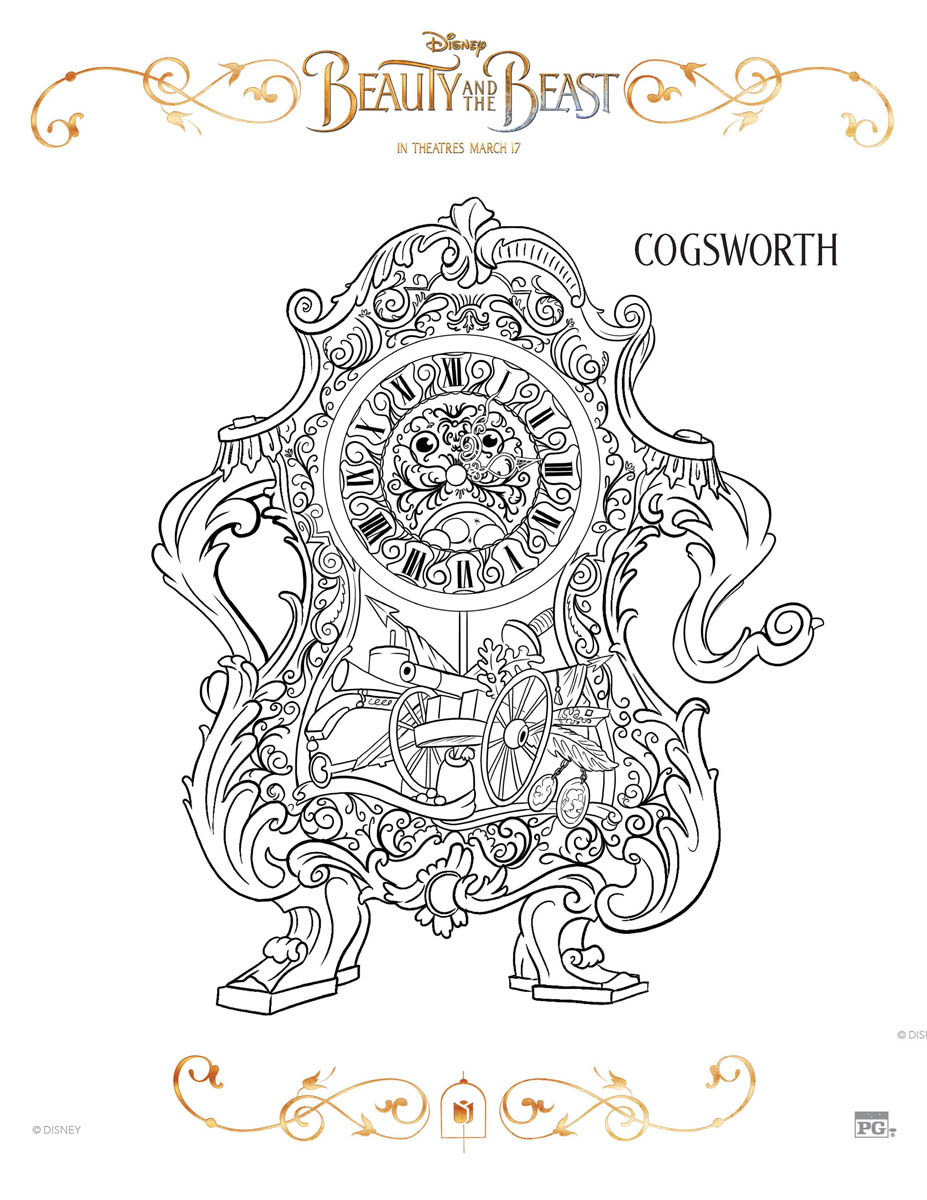 Cogsworth Coloring Page