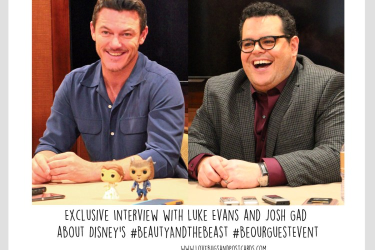 Exclusive Interview with Luke Evans and Josh Gad about Disney's #BeautyAndTheBeast #BeOurGuestEvent