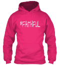 #Faithful Hoodie in Pink(Front)