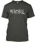 #Faithful Tee in Grey(Front)