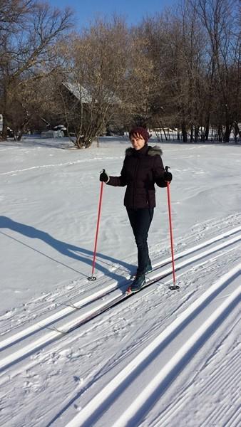 Как мы осваивали лыжи (11)