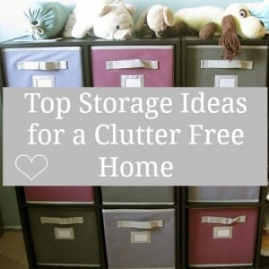storage ideas for a clutter free home