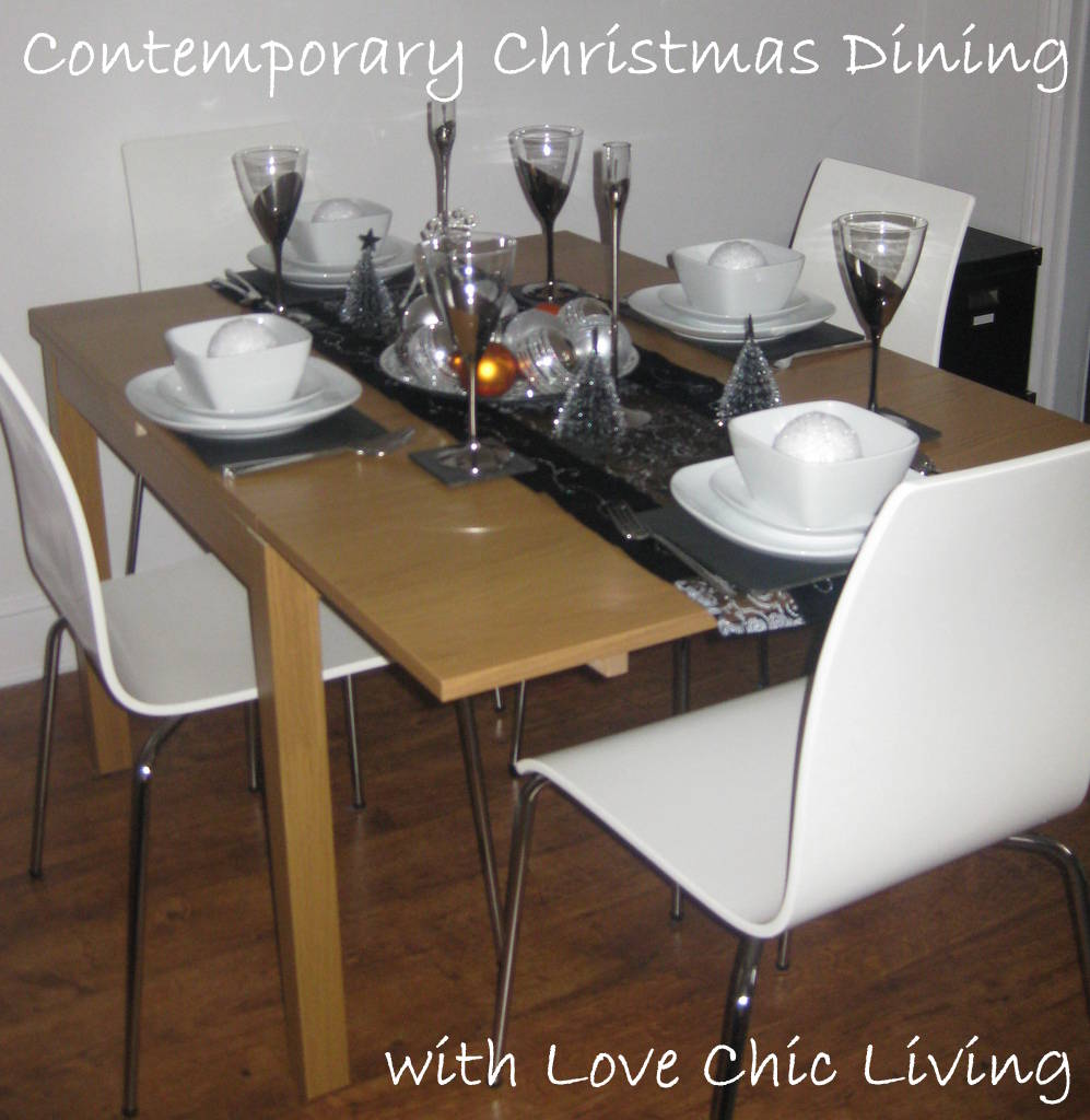 Contemporary christmas table
