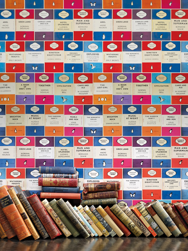 penguin library wallpaper by Osborne and Little