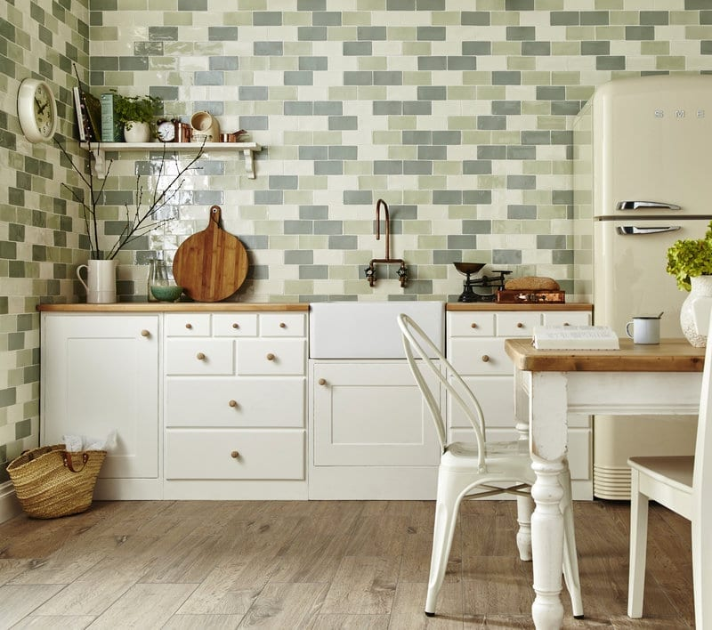 Wallpaper Tiles For Kitchen: Getting The Country Cottage Look