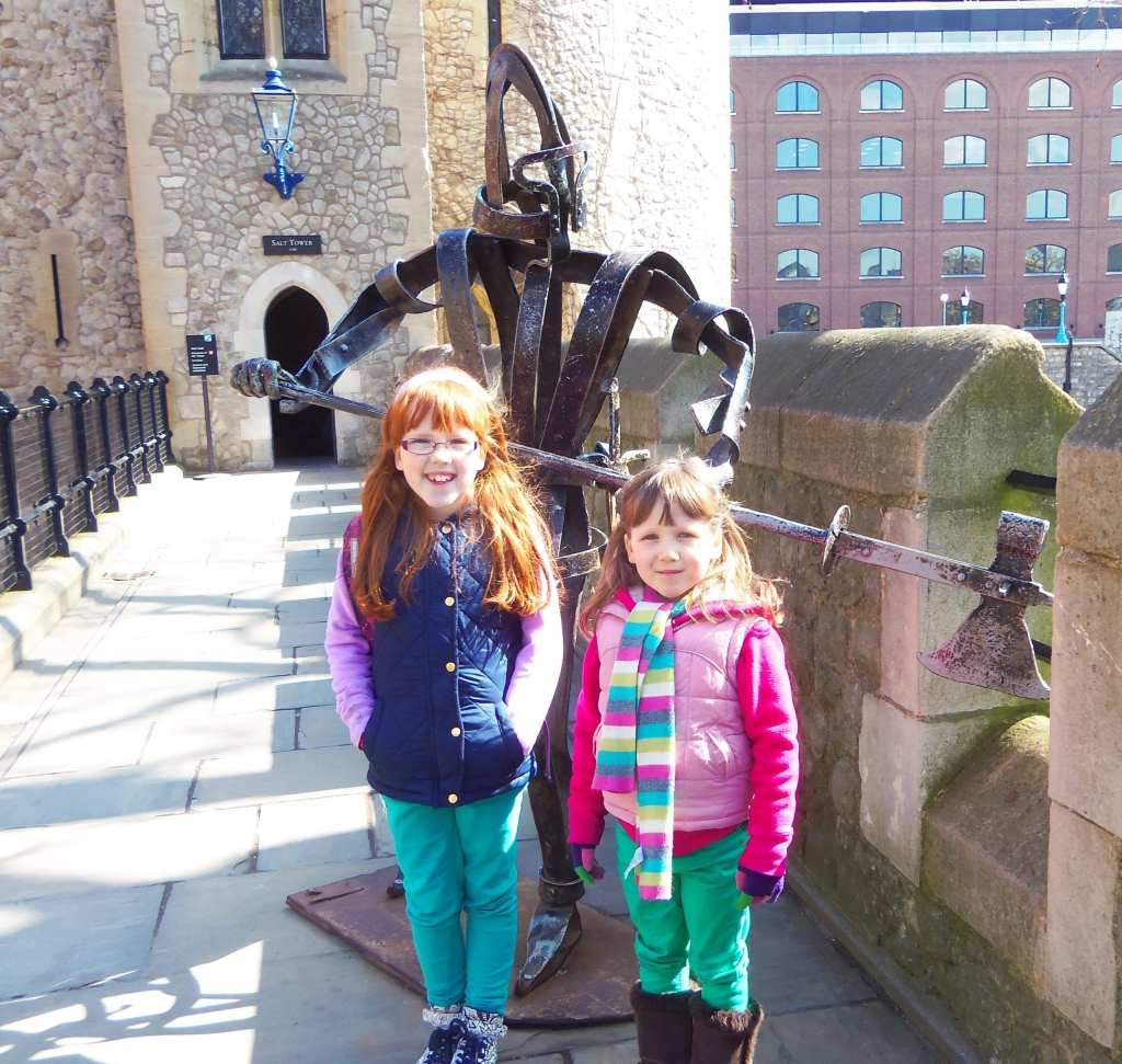 walking the walls of the Tower of London