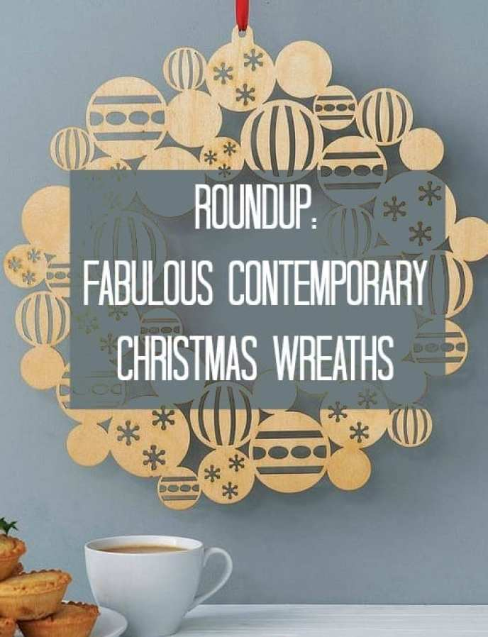contemporary Christmas wreaths