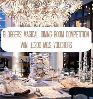 WIN £200 with the M&S Magical Dining Room Bloggers Competition