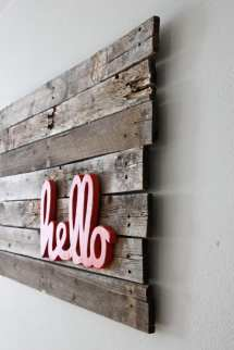 Upcycling Interiors Brilliant Ideas Pallet Wall Art