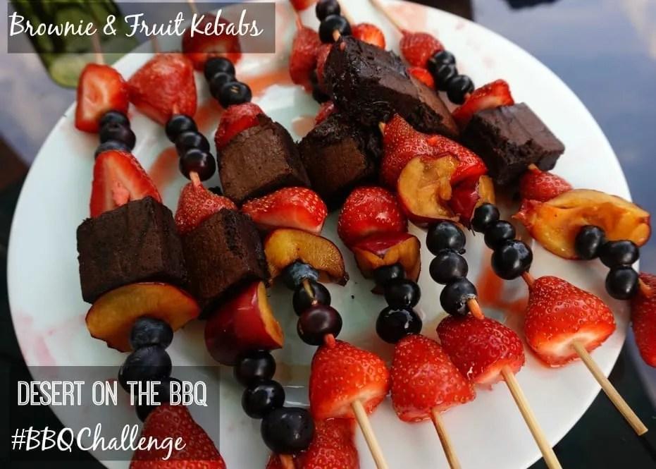 Brownie fruit kebabs