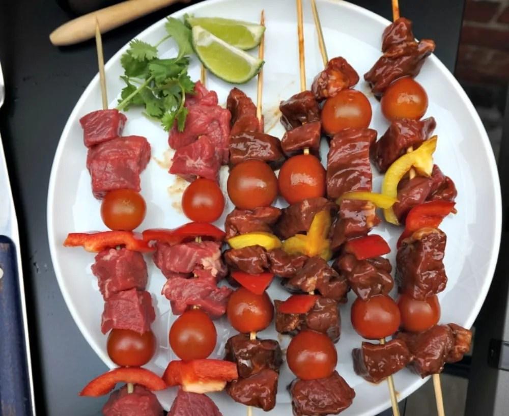 Pre cooked beef kebabs