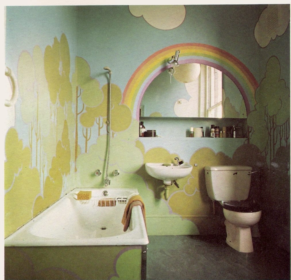 Rainbow bathroom